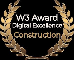 W3 Award Digital Excellence Construction