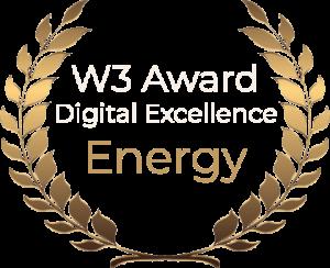 W3 Award Digital Excellence Energy
