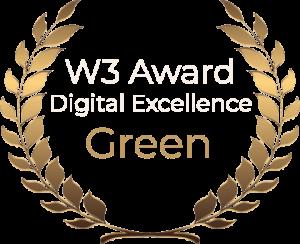 W3 Award Digital Excellence Green